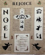 Timeless Treasures Noel by Wing and a Prayer C3108 Beige Noel Panel Cotton Fab