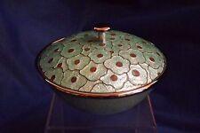 """Vintage Korean Oriental Cloisonné Enamel Covered 5"""" Wide Box Mint Condition"""