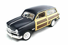 SUNNY SIDE 1949 FORD WOODY BLUE 1/24 New Without Box DIECAST CAR SS8703D
