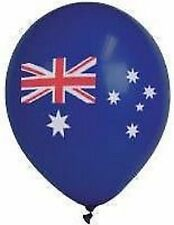 Australian Party Supplies - Australian Flag Printed Balloons Pack of 10 - FLAT
