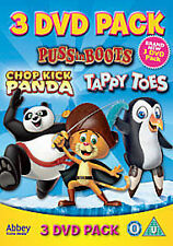 Tappy Toes/Puss in Boots/Chop Kick Panda [DVD], Very Good Condition DVD, ,