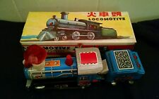 "Vintage MF 712 Friction Powered Tin Locomotive 8"" Long and 4"" Tall in Box"
