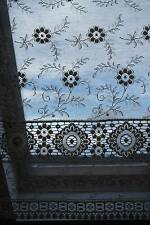 "Vintage c1930 Arts & Crafts period shabby chic coton lace curtain panel 66""/36"""