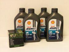Shell Advance ultra 4t 10w-40/filtro aceite ducati 659 695 696 todos los modelos