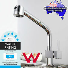 Watermark WELS Pull Out Shower Spray Swivel Kitchen Basin Mixer Tap Sink Faucet
