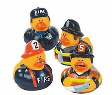 Set of 4 Firefighter Rubber Ducks Duckys Duckies #161295 Fireman Firemen Favor