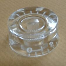POP-KNOB guitar speed knob in TRANSPARENT - CLEAR with white numbers