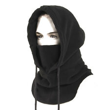 Fleece Winter Tactical Heavyweight Balaclava (Black) Neck Face Mask Hood Hat Ski