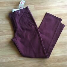 Women's Levi's 30x30 Maroon Jeans. Straight Legs.4pockets.Msrp $58