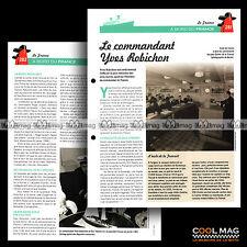 #clf071.008 ★ PAQUEBOT FRANCE : LE COMMANDANT YVES ROBICHON ★ Fiche Marine