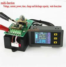 Digital Combo Meter 120V 200A DC Battery LCD Voltage Current Watt Power capacit