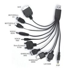 CABLE CARGADOR MULTIPLE UNIVERSAL 10 EN 1 A USB 2.0 APPLE SAMSUNG HTC LG Y MAS