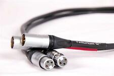 TELLURIUM Q BLACK 1M BALLANCED XLR INTERCONNECT FREE DELIVERY OR COLLECT
