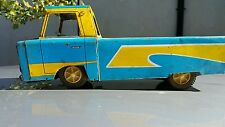 VINTAGE TRUCK TIN TOY LITHO 60's FRICTION BLUE MADE IN ROMANIA PROUDLY RARE