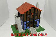 CUSTOM LEGO castle MEDIEVAL BLUE HOUSE SET INSTRUCTIONS ONLY
