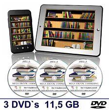 Ebook Mega Sammlung auf 3 DVD's, 11,5 GB, e-book Sammlung für PC, Reader usw.