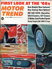 Motor Trend Magazine July 1967 First Look At The '68s EX 060916jhe