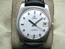 EXCELLENT SANDOZ INCABLOC VINTAGE RARE SWISS WRIST WATCH ORIGINAL DIAL FREE SHIP