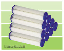 """(10) Pleated Sediment Water Filters 5 micron Washable Reusable 10"""" Standard Size"""