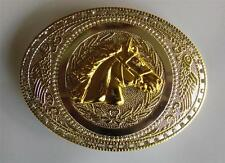 HORSE OVAL RODEO RINESTONE COWBOY WESTERN BELT BUCKLE