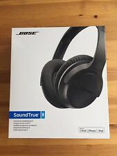 NEW, SEALED Bose SoundTrue 2 (II) Around Ear Headphones Black for Apple Devices