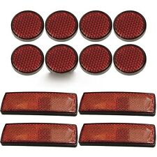 12pc Cycle Bike Bicycle Reflector Set Light Reflective Red Strips Self Adhesive