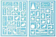 Plaid:Craft  Martha Stewart Adhesive Stencils 2 Sheets/Pkg-Holiday Icons II 46
