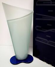 "RARE RSVP oggetti d'autore ITALY ART GLASS 14"" BLUE & GREEN CRYSTAL LUI VASE NEW"