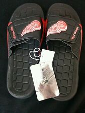 Nwt NHL.COM redwing sandals mens 11/12 black/red