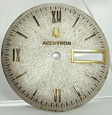 Vintage mens Bulova Accutron watch dial face part #28AA