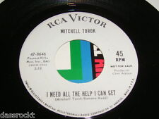 """7"""" - Mitchell Torok / I need all the help i can get & Man with - US PROMO # 3728"""