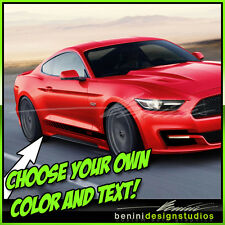 2015 & up Ford Mustang GT Custom Side Rocker Decals #1 Shelby Cobra