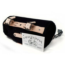 Minnehaha Small Barrel cycling saddle bag - British style with canvas & leather