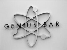 "Large Apple Store ""Genius Bar"" Sign, Lithium Atom Logo! Very Rare!"