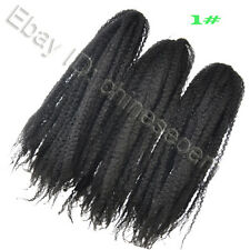 "Kinky Braid Afro KINKY/TWISTS/BRAID/MARLEY 18"" NATURAL HAIR 60g/Pack 12 Colors"