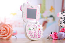 Cute Hello Kitty Style Mobile Cell Phone For Kids Girls Students Dual Sim