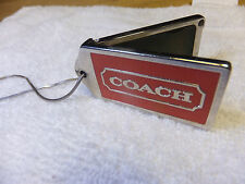 Coach Solid Perfume KeyChain Womans Scent .has a 9.25 italy silver chain
