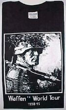 WWII Wehrmacht WORLD TOUR T-Shirt  XL German MG34 Machinengewehr (Machinegun)
