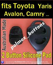 fits Toyota Yaris Avensis Camry Corolla Rav4 remote Key -Buttons Repair Pad