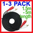 2 RCA to 2 RCA Male Stereo Audio Gold Plated Dual Cable Music Lead Mixer Cord