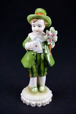 Sweet Antique German Miniature Boy Porcelain Figurine Signed by E. & A. Müller