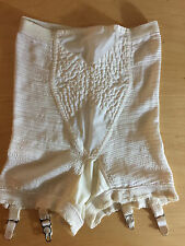 S/M VTG SOFT SKIN by REAL-FORM USA MADE NYLON STRETCH GIRDLE W/4 METAL GARTERS