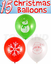 15 x CHRISTMAS BALLOONS XMAS PARTY FAIR GROTTO DECORATION STOCKING FILLER SANTA