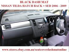 DASH MAT, BLACK DASHMAT, DASHBOARD COVER FIT NISSAN TILDA 2006-2009, BLACK
