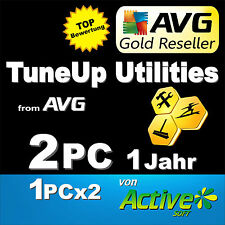 TuneUp Utilities 2017 2 PC PAKET (1+1) Vollversion AVG PC TuneUp DE ESD