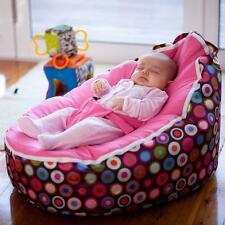 New Pink Strap Baby Seat Baby Bean Bag Chair Beanbag Cover Soft Snuggle Bean Bed