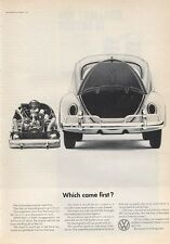 """1966 VW Volkswagen Station Wagon """"Which came first?"""" PRINT AD"""