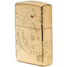 Zippo 29265 Dragon Multi Cut Armor Gold Plated Finish Lighter