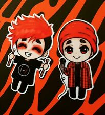 TWENTY ONE PILOTS - Tyler & Josh TØP Stickers / Decal Set 4cm