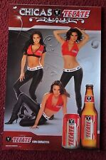 Sexy Girl Beer Poster TECATE ~ Trio of South American Cerveza CHICAS